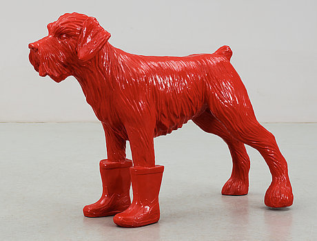 William Sweetlove, 'Red cloned dog with plastic boots', 2006, Galerie Céline Moine & LGFA