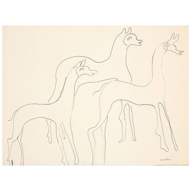 Louise Nevelson, 'Three Animals', 1930, Drawing, Collage or other Work on Paper, Pen and Ink on Paper, Caviar20