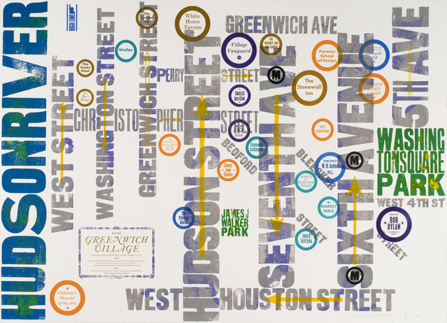 , 'West Greenwich Village,' 2013, Advanced Graphics London
