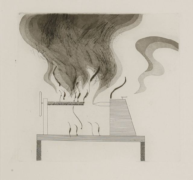 David Hockney, 'The Lathe and Fire (Tokyo 92)', 1969, Sworders