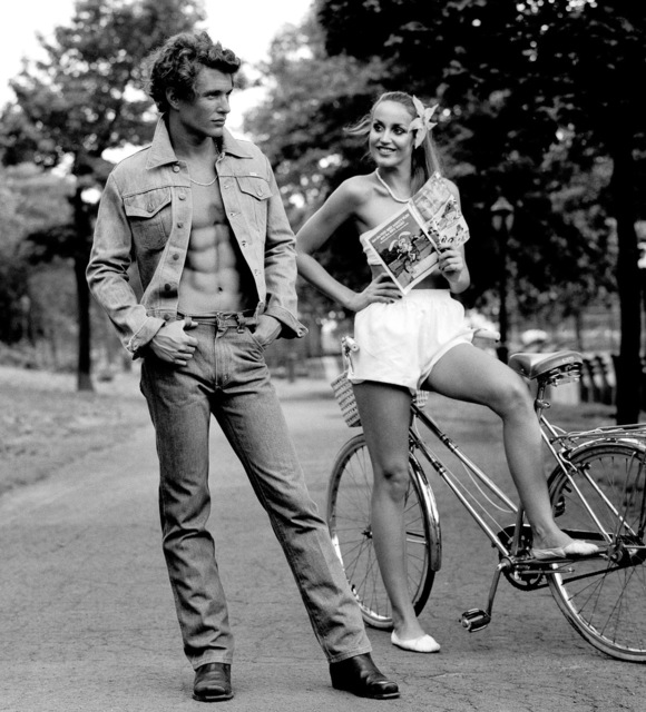 , 'Tom Berenger with Jerry Hall, in Central Park,' 1975, Ever Gold [Projects]