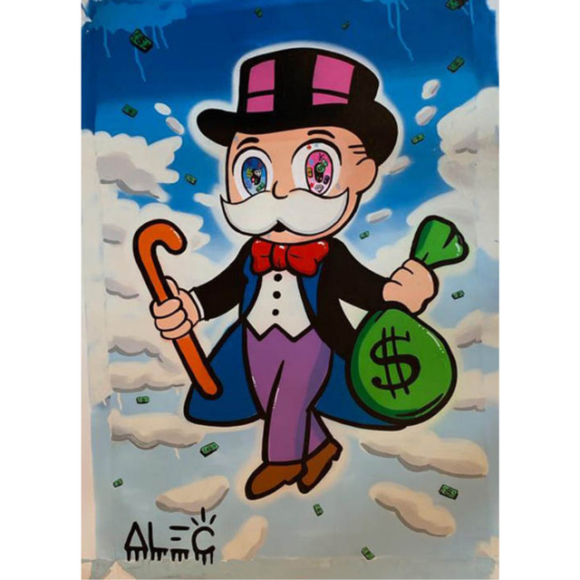 Alec Monopoly, 'Monopoly with cane in the sky', 2019, Eden Fine Art