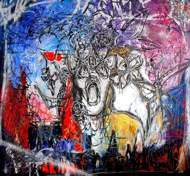 , 'Textures 24 (Three Ladies),' 2018, Gallery Elena Shchukina