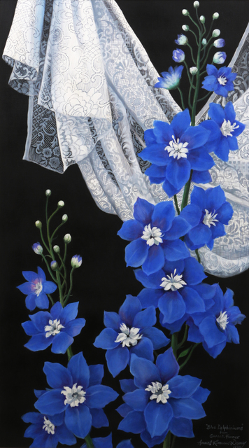 , 'BLUE DELPHINIUMS,' 1994, Ayala Museum