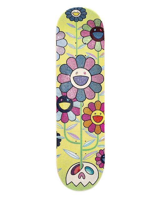 Takashi Murakami, 'ComplexCon x TMKK with Swarovski crystals Flower Cluster Skate Deck', 2019, 5ART GALLERY