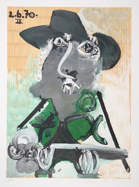 Pablo Picasso, 'Portrait d'Homme au Chapeau, 1970', 1979-1982, Print, Lithograph on Arches paper, RoGallery