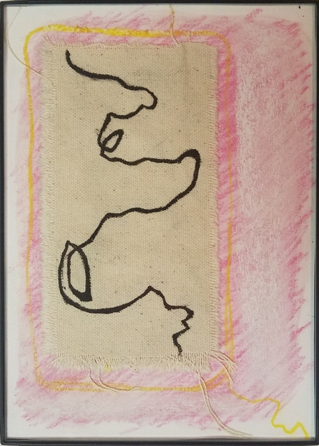 Elizabeth Hill, 'Mini Prototype Drawing #4', 2018, Drawing, Collage or other Work on Paper, Chalk pastel, pastel pencil, unprimed canvas, and ink on paper, Ro2 Art