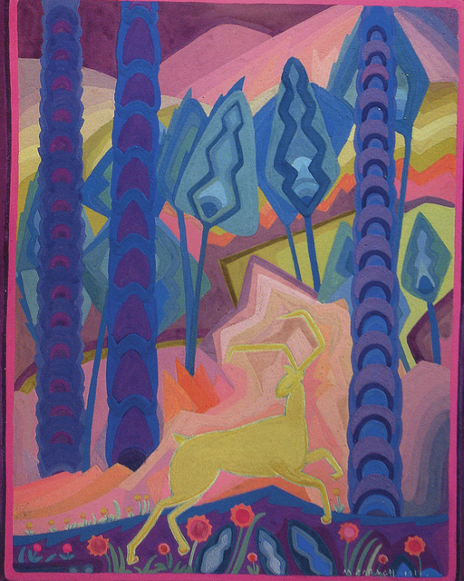 , 'Deer in the Forest,' 1914, Phoenix Art Museum