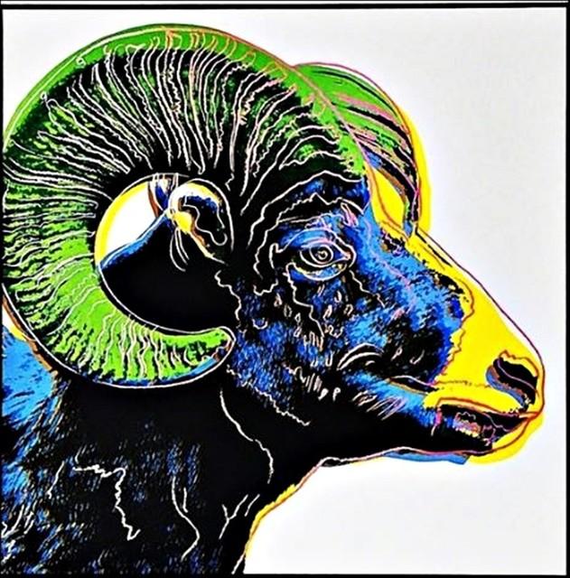 Andy Warhol, 'Bighorn Ram for Art Basel', 1987, Alpha 137 Gallery Gallery Auction