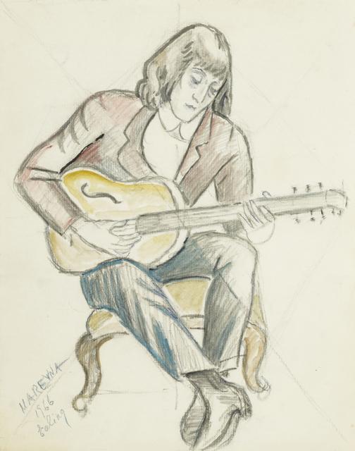 Marie Vorobieff Marevna, 'Portrait of David Phillips, the artist's grandson, playing the guitar, Ealing', 1966, Roseberys