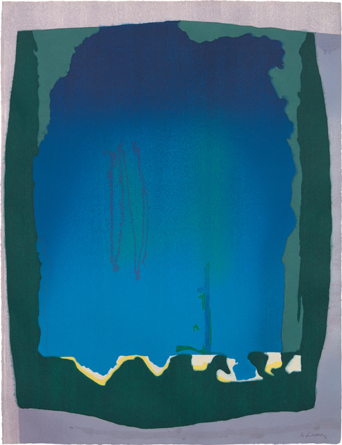 Helen Frankenthaler, 'Freefall', 1992-93, Print, Monumental woodcut and hand-dyed paper in colors, on TGL handmade paper, the full sheet., Phillips