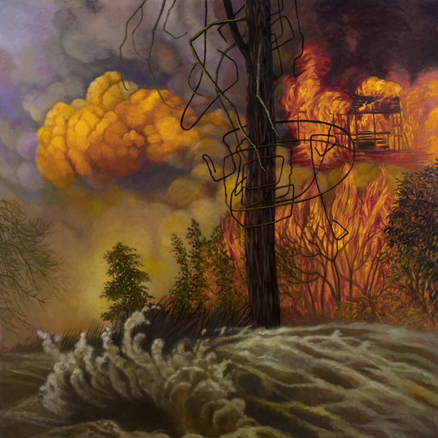 , 'Fire and Flood,' 2018, InLiquid