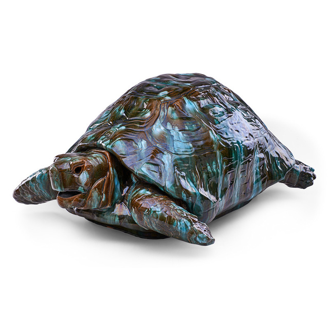 Clément Massier, 'Massive turtle, Golfe-Juan, France', late 19th C., Design/Decorative Art, Glazed earthenware, Rago/Wright