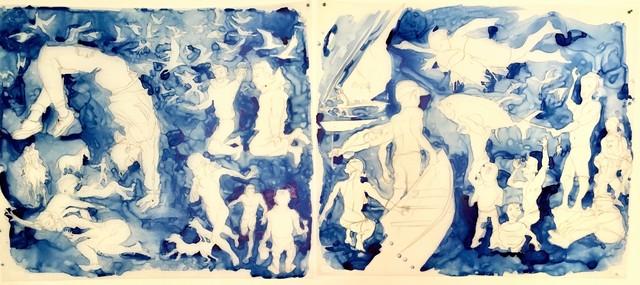 Mark Adams, 'Blue Figures', 2019, The Schoolhouse Gallery
