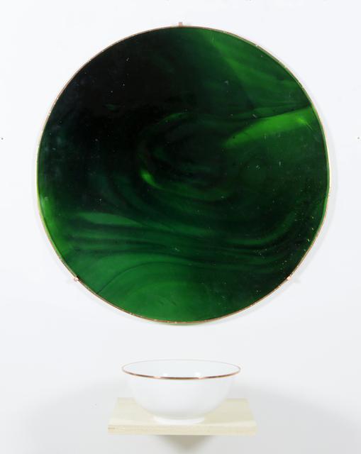, 'Le Vitrail vert et Le Bol avec le vert déposé,' 2018, Galerie Nathalie Obadia