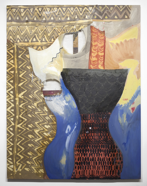 Lauren Luloff, 'Hourglass Figure', 2013, Mixed Media, Oil, bleached bedsheets and fabric on muslin, Cooper Cole Gallery