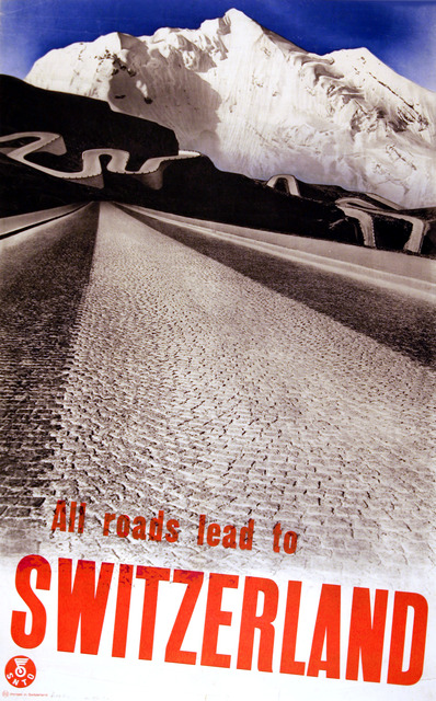 , 'All Roads Lead to Switzerland,' 1935, Omnibus Gallery
