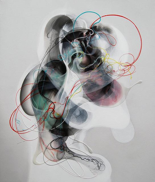 Jongwang Lee, 'Empathy II', 2013, Painting, Oil, acrylic, sumi ink, and Resin on canvas over wood panel, Susan Eley Fine Art