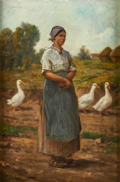Untitled (Girl with Geese)