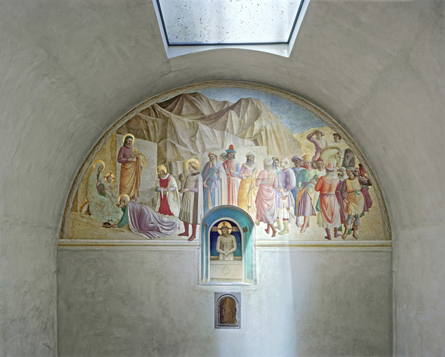 Robert Polidori, 'Adoration of the Magi and Man of Sorrows by Fra Angelico, Cell 39, Museum of San Marco Convent, Florence, Italy', 2010, Flowers