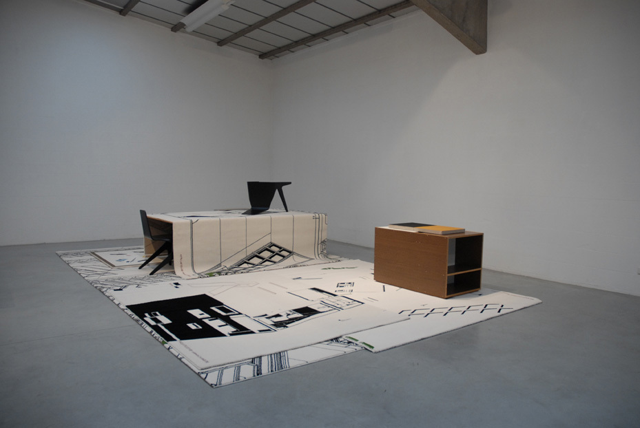 Art of the Loom, 2011 - Jan De Cock, installation of carpets and sculptures