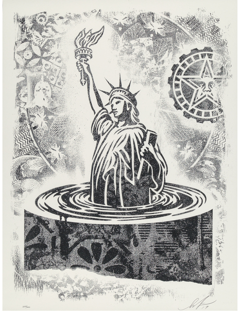 Shepard Fairey, 'Damaged Stencil Series: People's Climate March', 2017, Print, Offset print on paper, Taglialatella Galleries
