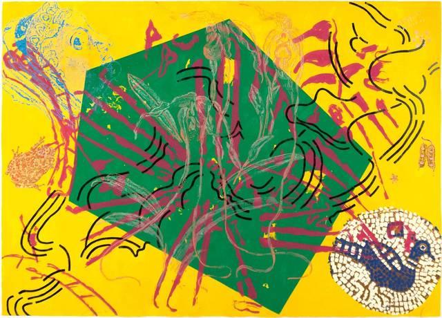 Nancy Graves, '5745', 1984, Print, Color screenprint on paper, Doyle
