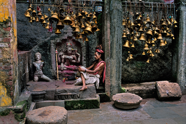 , 'MAN WITH MANY BELLS, GUWAHATI, ASSAM, INDIA, 2001,' 2001, Beetles + Huxley