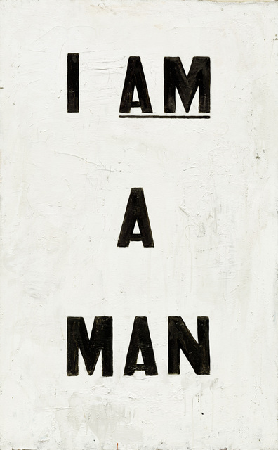 , 'Untitled (I Am a Man),' 1988, National Gallery of Art, Washington, D.C.