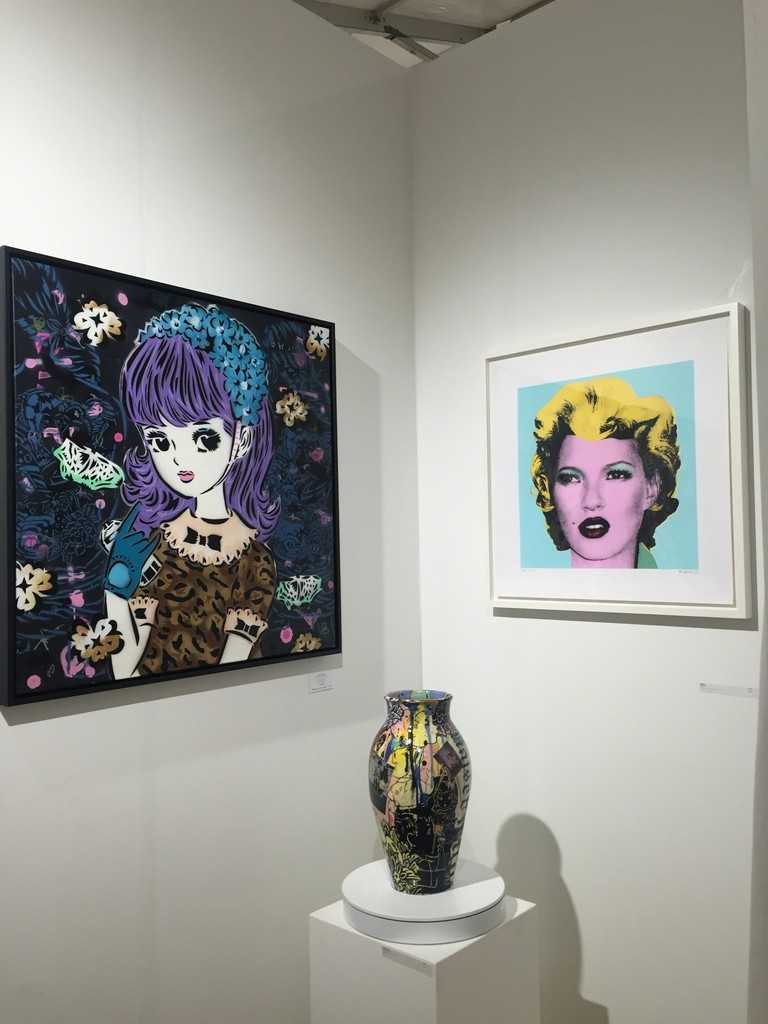 Lady AIKO, Dan Baldwin & Banksy at SCOPE Miami Beach