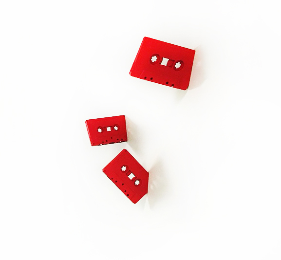 , 'Cassettes (Red, Set of 5),' 2016, Joseph Gross Gallery