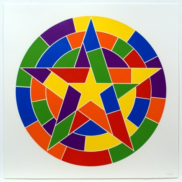 Sol LeWitt, 'Tondo 3 (5 point star)', 2002, Bernard Jacobson Gallery