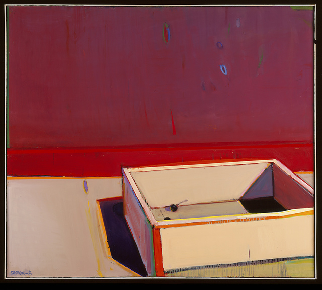 , 'An Almost Empty Cherry Crate with a Red Stripe,' 2005, San Jose Museum of Art