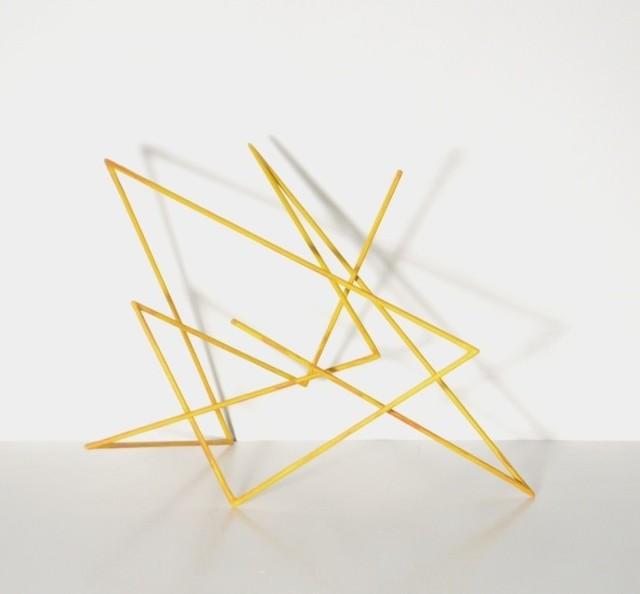 , 'Trait 45 jaune,' 2013, Galerie Marie-Robin