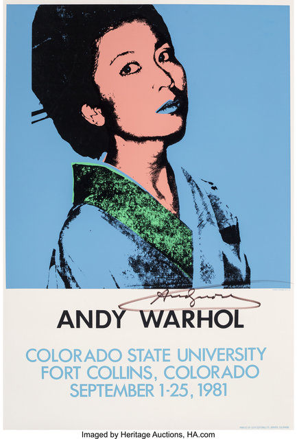 Andy Warhol, 'Andy Warhol, exhibition poster', 1981, Heritage Auctions