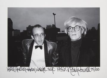 Keith Haring & Andy Warhol, NYC, 1986