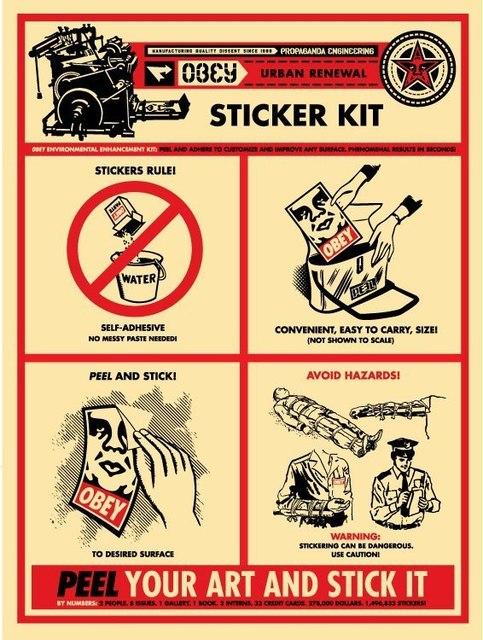 Shepard Fairey, 'Sticker Kit', 2009, AYNAC Gallery
