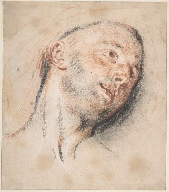 Jean-Antoine Watteau, 'Head of a Man', ca. 1718, The Metropolitan Museum of Art