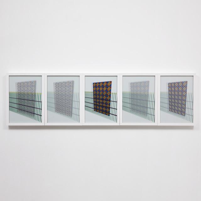 Rommulo Vieira Conceição, 'Em caso de embate, amparecom o confronto - Grade', 2014, Carbono Galeria
