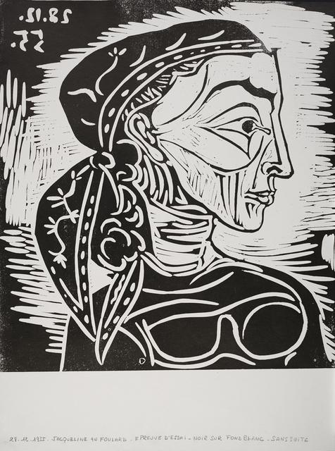 Pablo Picasso, 'Profil de Jacqueline au Foulard', 1955, Frederick Mulder