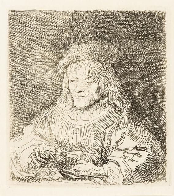 Rembrandt van Rijn, 'The Card Player', 1641, Print, Etching, Forum Auctions