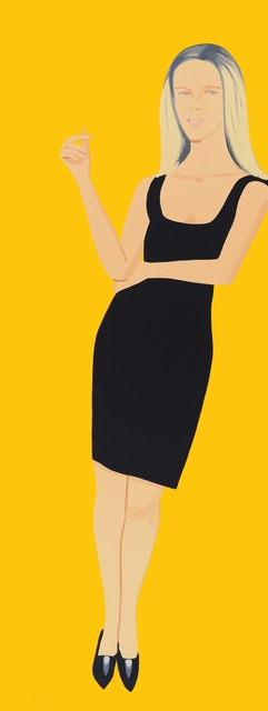Alex Katz, 'Black Dress - Yvonne', 2015, Frank Fluegel Gallery