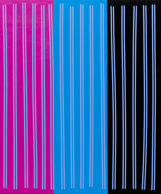 , 'Simple Line Set (Mag/Blu/Blk),' 2014, Newzones