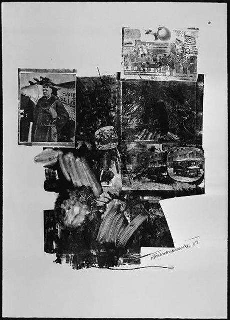 Robert Rauschenberg, 'Test Stone #2, from Booster And 7 Studies', 1967, Print, Lithograph, Gregg Shienbaum Fine Art