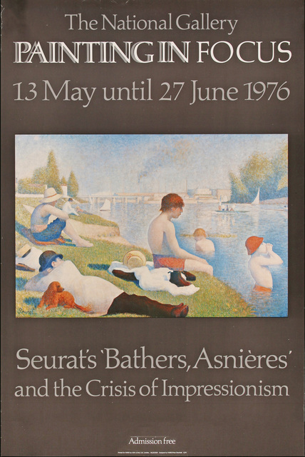 Georges Seurat, 'The National Gallery(London), Painting in Focus, 13 May until 27 June 1976, Seurat's Bathers, Asnieres and the Crisis of Impressionism, HOLIDAY SALE $150 OFF THRU MAKE OFFER', 1976, David Lawrence Gallery