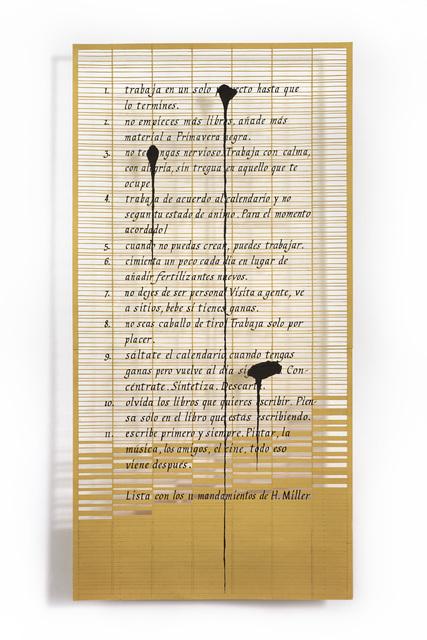, 'Lista de Roland Barthes ,' 2018, Aldo de Sousa Gallery