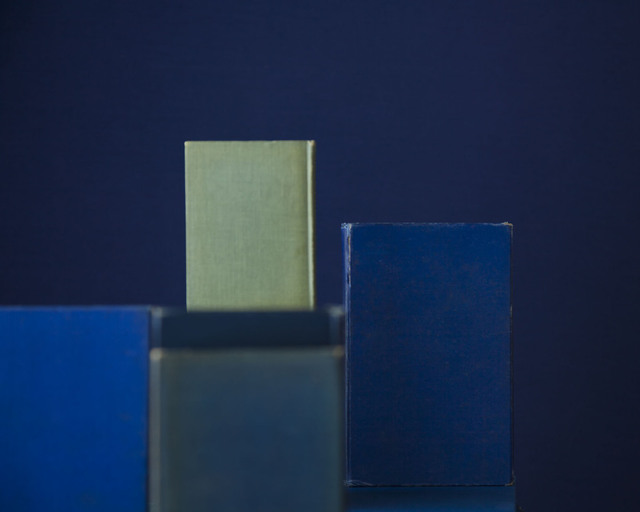 , 'Blue Books One Green,' 2010, Yancey Richardson Gallery