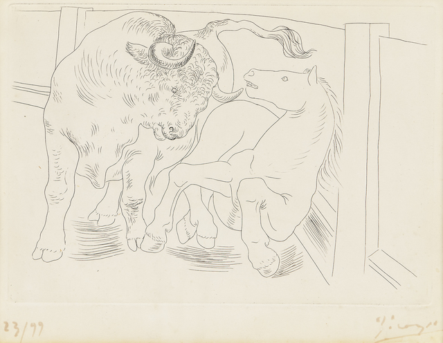 Pablo Picasso, 'Taureau et Cheval, from Le Chef-d'Oeuvre Inconnu, by Honoré de Balzac', 1934, Skinner