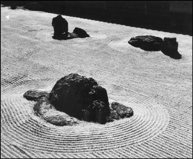 , 'The Zen garden of the Temple of Ryoanji. Kyoto, Japan.  ,' 1951, Magnum Photos