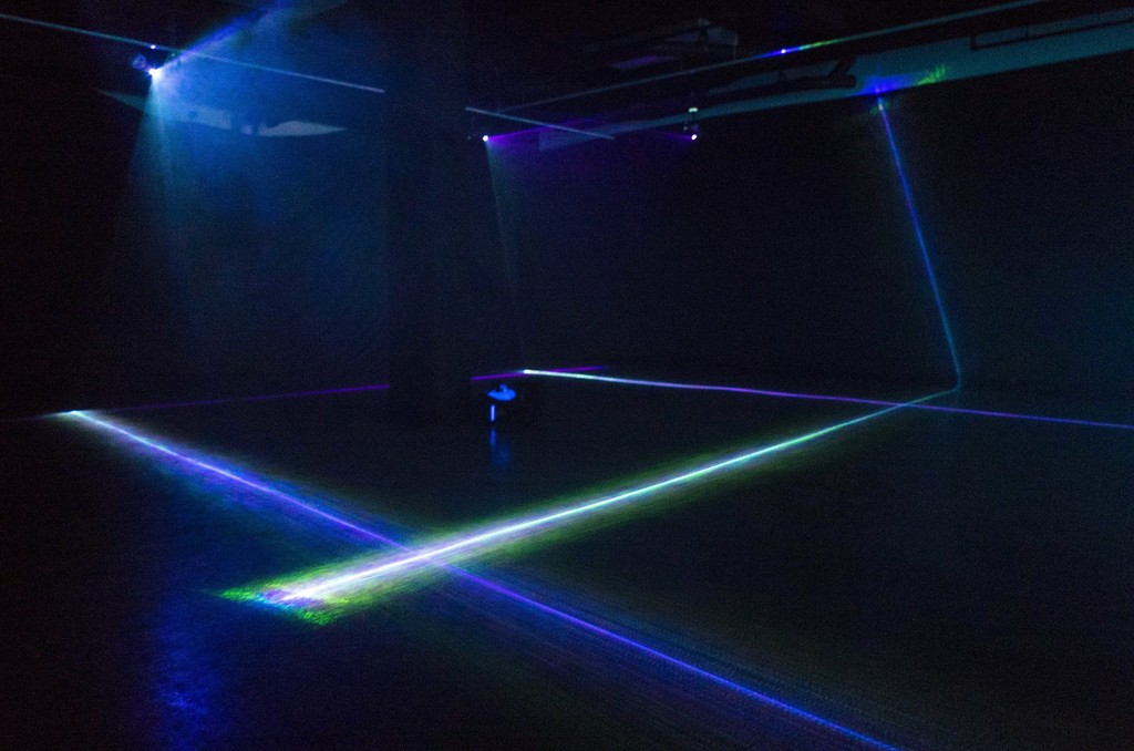 Nitemind, Laser Room, Varied Dimensions, 4 Projection-Mapped RGB Lasers, 2017